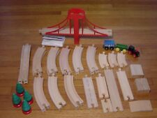 Wood Train Track Lot For Thomas The Tank Engine Wooden Railway Suspension Bridge