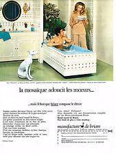 PUBLICITE ADVERTISING 094  1969  MOSAIQUE DE BRIARE  décor TRIANON salle de bain