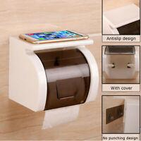 Étanche Porte Rouleaux Papier Hygiénique Toilette Mural Salle Bain WC  S