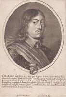 Portrait XVIIe Charles X Gustave Roi De Suède Duc De Brême Verden Karl X Gustav