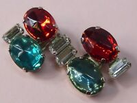 Emilio Pucci rare vintage 1950s high-end Italian couture earrings
