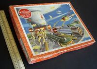 """Victory Jig-Saw Puzzle 1950s era. """"The Space Station"""". Complete & Boxed."""