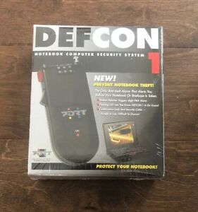 DEFCON 1 Notebook Computer / Luggage Security System Alarmed- NEW SEALED!