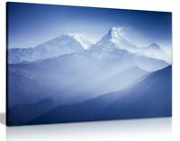Blue Wall Art Annapurna Mountains Landscape Canvas Wall Art Picture Print