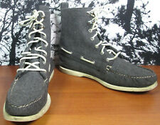 Sperry Top Sider Gray Mens High Top Sneaker Shoes Size 9 1/2 M 9.5