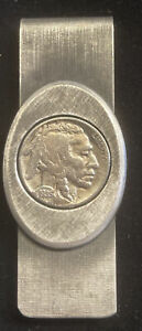 Buffalo Indian Nickel Coin Money Clip 1935