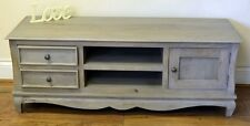 Bourdeilles Solid Mango Shabby Chic Vintage Plasma TV Bench Cabinet Stand Unit