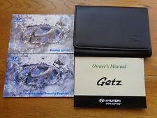 Hyundai Getz Owners Handbook Manual and Wallet 02-05