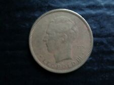 CONGO BELGE 1936 LEOPOLD3 PIECE DE 5 FRANCS LION