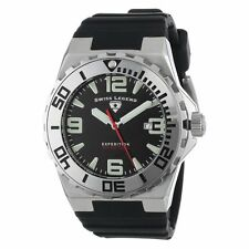 SWISS LEGEND EXPEDITION 200M DIVE BLACK DIAL STAINLESS STEEL CASE HARD TO FIND!