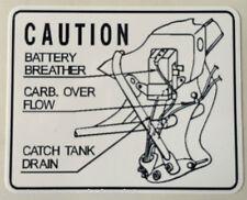 Honda CB250T CB400T Calcomanía de advertencia de precaución sueño Batería Respiradero