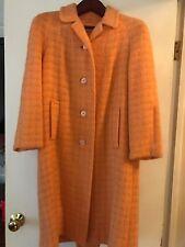 Vtg Bettijean Trench Coat Orange Jacket Womens