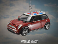 Deluxe Hard Top Union Jack Flag Austin Mini Cooper S Christmas Ornament 1/28 BMW