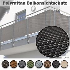 Balkonsichtschutz Rattan Balkonbespannung Zaunsichtblende Geländerschutz + ÖSEN