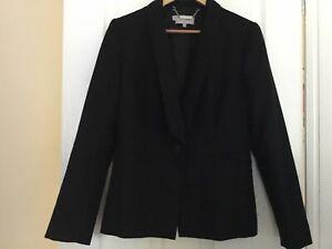 Ladies HOBBS black blazer jacket 100% wool UK12