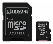 MICRO SD 64GB  KINGSTON CL10 45MB/S SCHEDA CELLULARE TABLET IPHONE