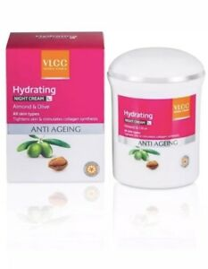 Vlcc Hydrating Anti Aging Night Cream-50gm-For All Skin Types
