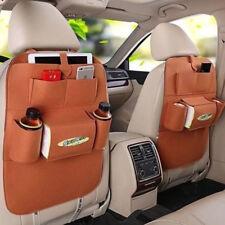 New Auto Car Seat Back Multi-Pocket Storage Bag Organizer Holder Accessory Brown