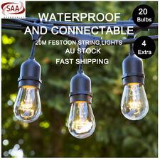4 Pack 20m Festoon String Lights S14 Kit Wedding Party Waterproof Outdoor Garden