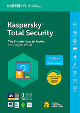 Kaspersky Total Security 2018 1 PC/utente/dispositivi/1 ANNO/ANTIVIRUS/