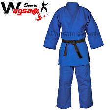 BJJ GI Judo Adult Uniform Suits Mens Ladies Martial Arts Gi Blue All Size's