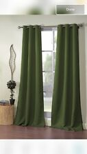 Morton Ashmount Blackout Curtains Olive Green