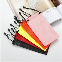 Glasses Sun Glasses Spectacles Phone Case Bag Pouch Draw String Soft Wallet