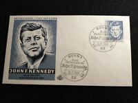BRD Deutschland 21.11.1964 - Brief FDC ,1. Todestag von John F. Kennedy