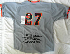 JUAN MARICHAL SIGNED GIANTS BASEBALL JERSEY JSA WITNESSED COA PRIVATE SIGNING
