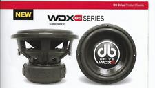 "New DB Drive Model WDX8G5D4 8"" Woofer 4 Ohm DVC  / 1800 Watts SPL Audiophile"