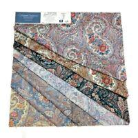 """Cohama Decor Fabric 7 Squares 26"""" x 26"""" Paisley Polished Chintz Brandywine Craft"""