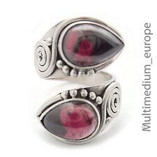 Silber Ring Granat Tropfen Spiral e silver ring garnet drop antik Stil
