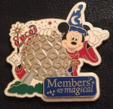 Disney Pin DVC 33949 Members Are Magical Epcot Sorcerer Mickey Spaceship LE