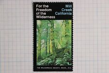 Mill Creek California Wilderness area Society Washington DC Poster charity Stamp