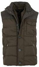 Superdry Mens Tech Tweed Gilet Padded Vest Gilet Zip/Button Jacket Khaki