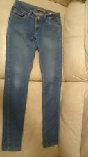 DAYSIE Womens Blue Denim Jeans Stretch Super Skinny Fit Size 38
