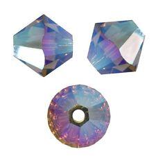 15 Perles Toupies 4mm Cristal Swarovski  - SMOKED TOPAZ AB2X