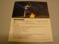 John McEnroe Nike Promotional Postcard