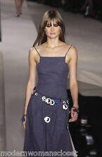Beautiful Chanel 03P Classic Blue Denim Dress NEW 34 Summer Spring