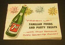 Vintage 7up 1953 Recipe Booklet