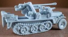 Milicast BG053 1/76 Resin WWII German Sdfz10 wMounted 50mm Pak 38 Anti-Tank Gun