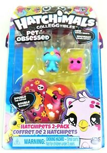 Hatchimals CollEGGtibles Pet Obsessed NEW Hatchipets 2 Pack Hatchy Hearts