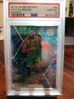 Jaylen Brown Panini Mosaic Genesis SSP Psa 10 Boston Celtics