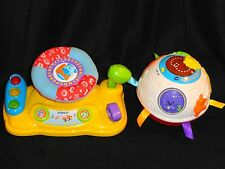 VTECH - 2 CUTE TEACHING / LEARNING TOYS FOR LITTLE ONES - AROUND TOWN BABY DRIVE
