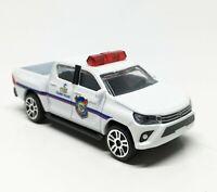 Majorette Toyota Hilux Revo Tourist Police White Diecast 1:58 292K no Package