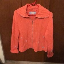 Blue Willi's Pink Zip Up Sweater Size M
