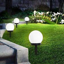 8er Solar Gartenleuchte wasserdicht Solarlampe Garten Außen LED Kugel & Erdspieß