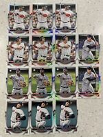2021 TOPPS TRIBUTE 14x RED SOX LOT - CLEMENS MARTINEZ BOGAERTS YASTRZEMSKI