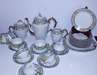 ANCIENNE SERVICE A THE OU CAFE ET DESSERT EN PORCELAINE DE LIMOGES FRANCE