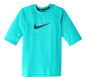 Nike Boy's Heather Hydro Half Sleeve Rash Guard Swim Shirt Size Medium